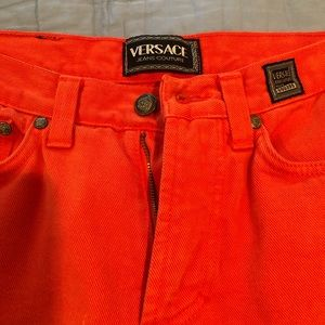 Versace coral jean like new size 28